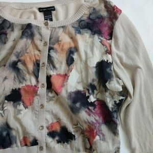 NY&Co beige floral top size XL